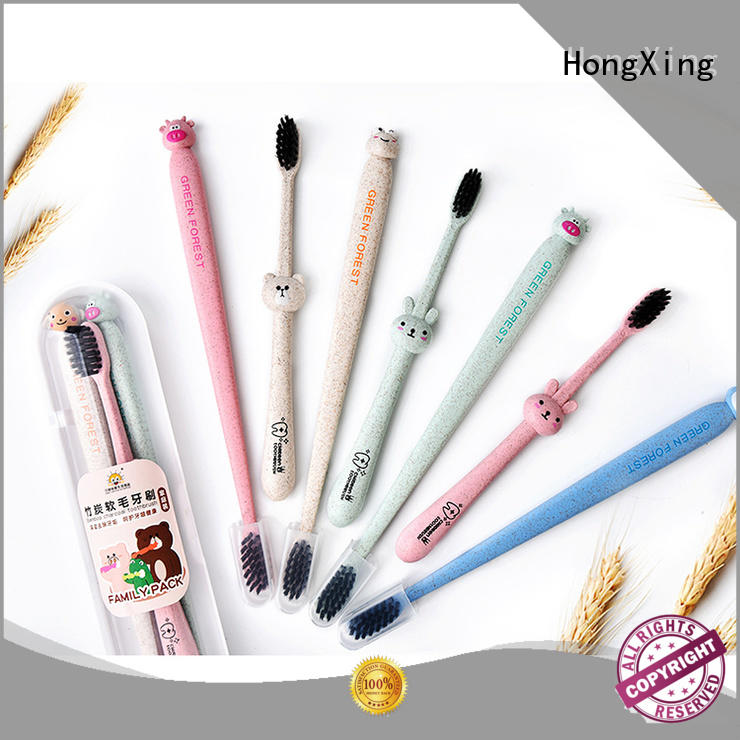 HongXing colorful bamboo toothbrush online widely-use for living room