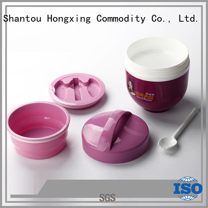HongXing material custom lunch box for noodle