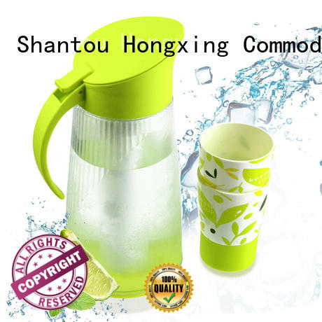 HongXing humanized design plastic jug with lid reliable quality for vegetables