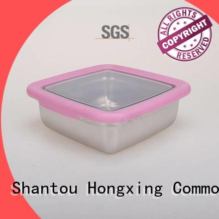 HongXing great practicality plastic food storage containers with many colors for salad