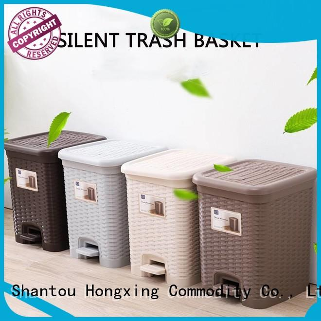 HongXing trash plastic kitchen trash cans with many colors for room