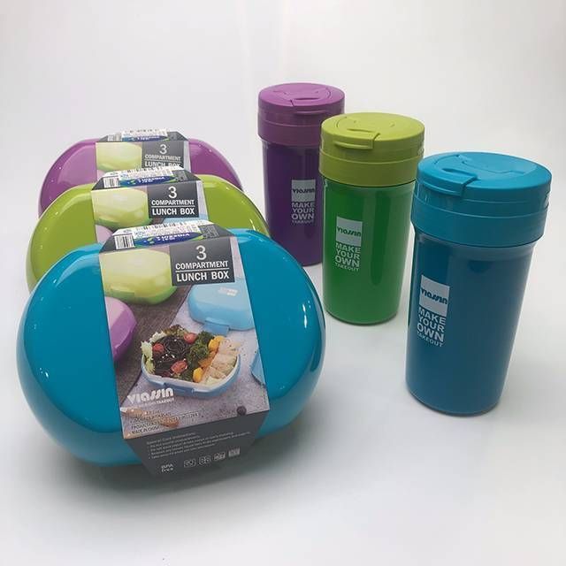 2-LAYER ECO-FRIENDLY PLASTIC LUNCH BOX&WATER BOTTLE MICROWAVE