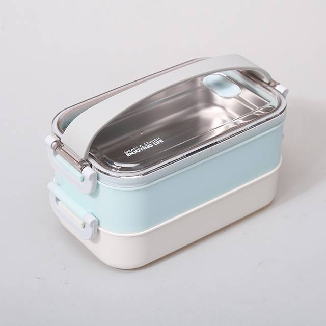 304# STAINLESS STEEL 2-LAYER LUNCH BOX 1600ML JAPANESE STYLE