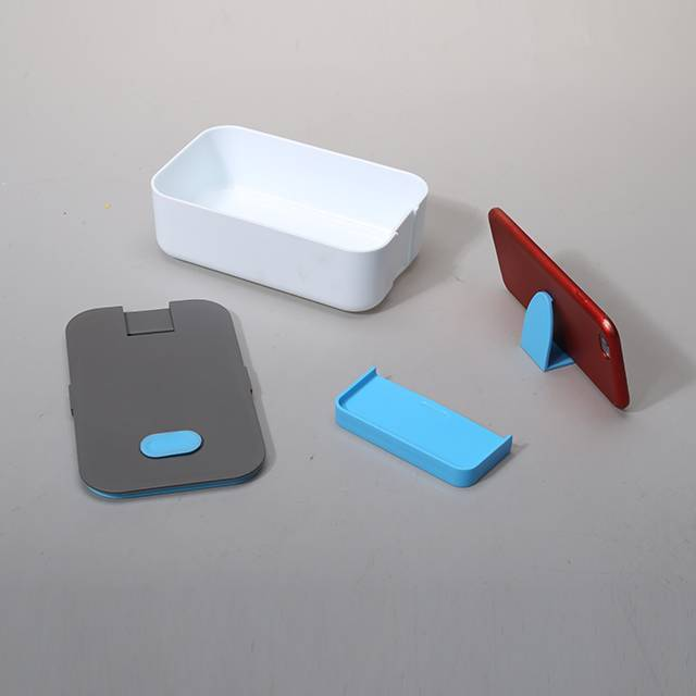 PLASTIC LUNCH BOX WITH MOBILE PHONE HOLDER DURABLE BENTO BOX