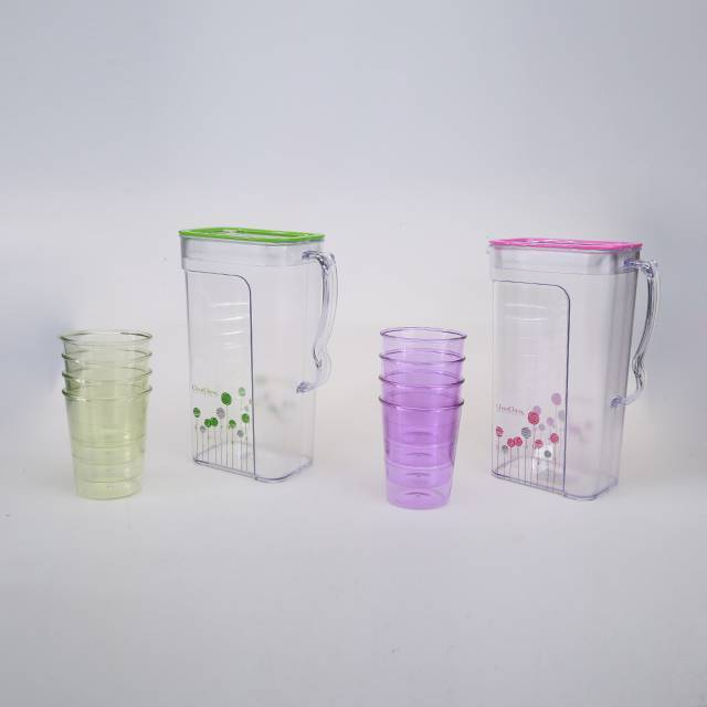 Beautiful Plastic Jug 2.2L with 4 Cups Water Pot Kettle