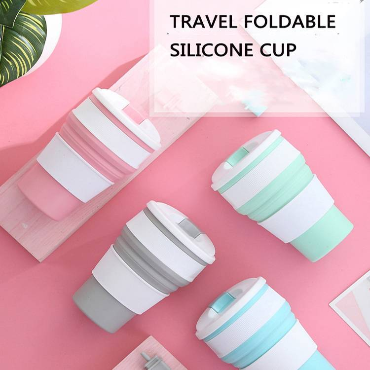 350ml Foldable Direct Drinking PP Material Plastic Sport Water Cup