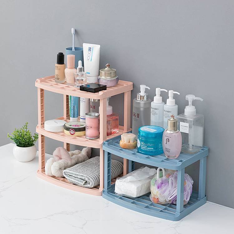 Plastic Two-layers Three-layers Rack Used in Bathroom Kitchen Living Room