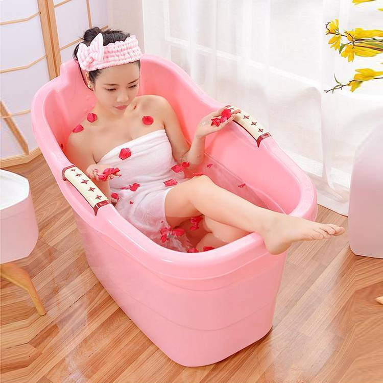 Bath Tub with Hole Used for Kid Adults Plastic Bathtub