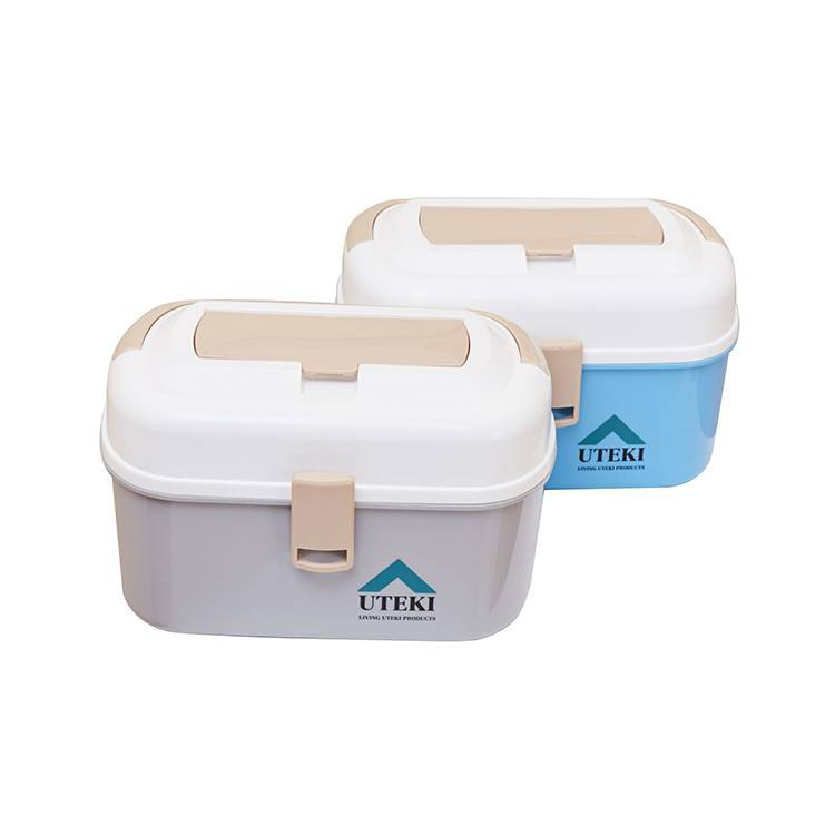 Multifunctional Double Layer Portable Storage Box Home Health Box