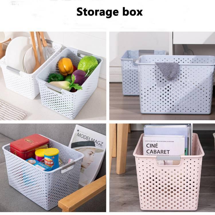 Simple Style Plastic Hollow Storage Basket