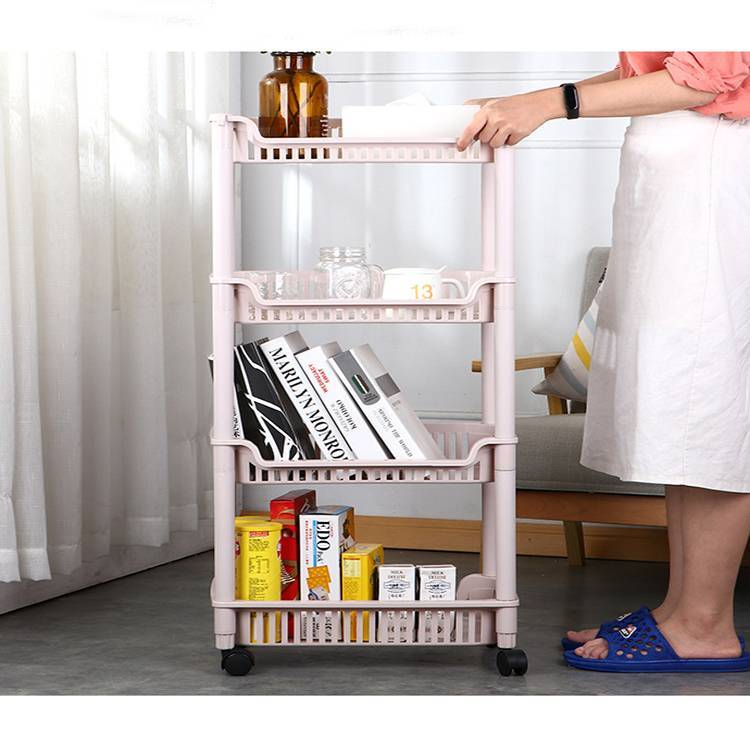 Three and Four Layers Multi-functional Storage Rack with Wheels