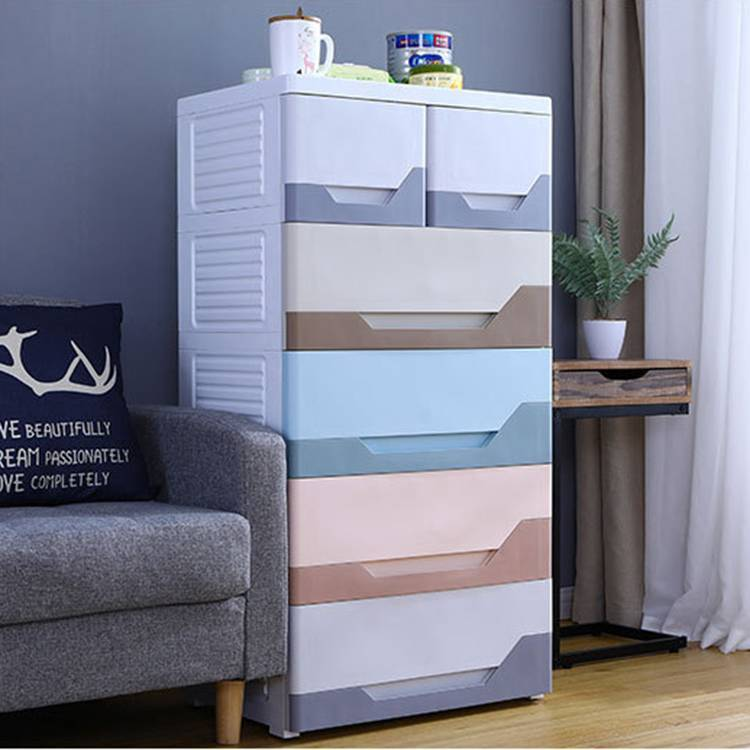 5-layer Drawer Storage Cabinet with Five Colors