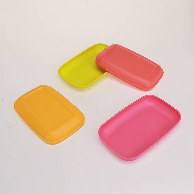 Four-piece Color Plate for Snacks, Fruits or Dishes