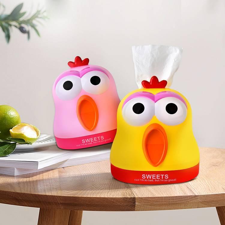 Plastic Cute Carnival Chicken Tissue Box