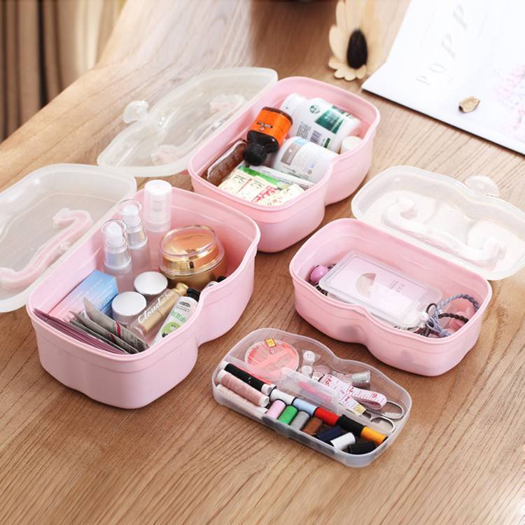 Three Sizes Color Multifunctional Storage Box with Lid