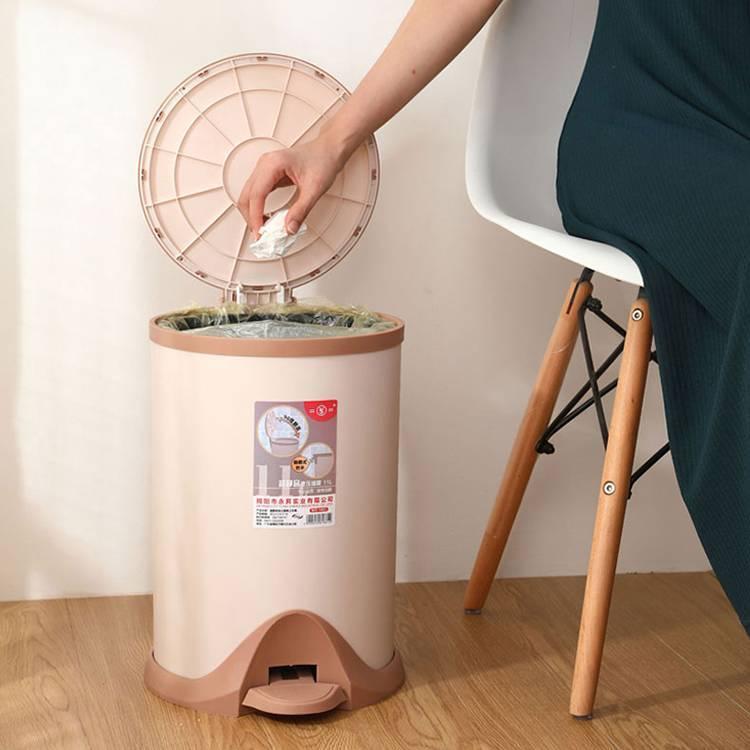 Hydraulic Slow Drop Sanitary Bucket with Lid