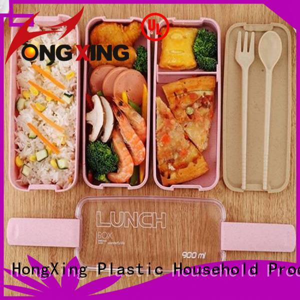 spoon bento lunch box containers stable performance for vegetable HongXing