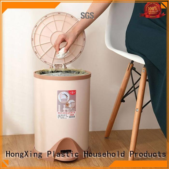 HongXing stable performance plastic trash cans with many colors for room