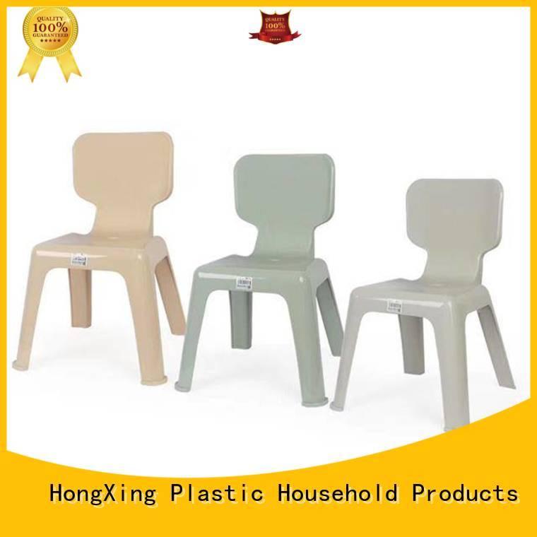 HongXing children plastic chair stable performance for living room