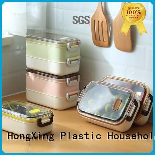 Microwave Safe plastic lunch box layer reliable quality for rice