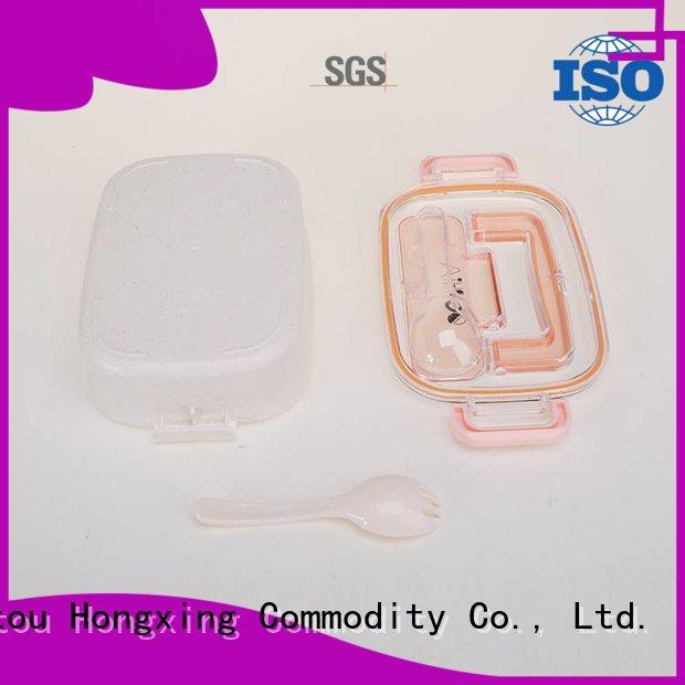 HongXing boxplastic microwave lunch box stable performance for vegetable