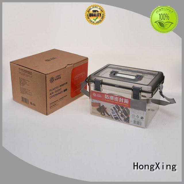 HongXing 100% leak-proof plastic box with lid for storage small containers for storage books