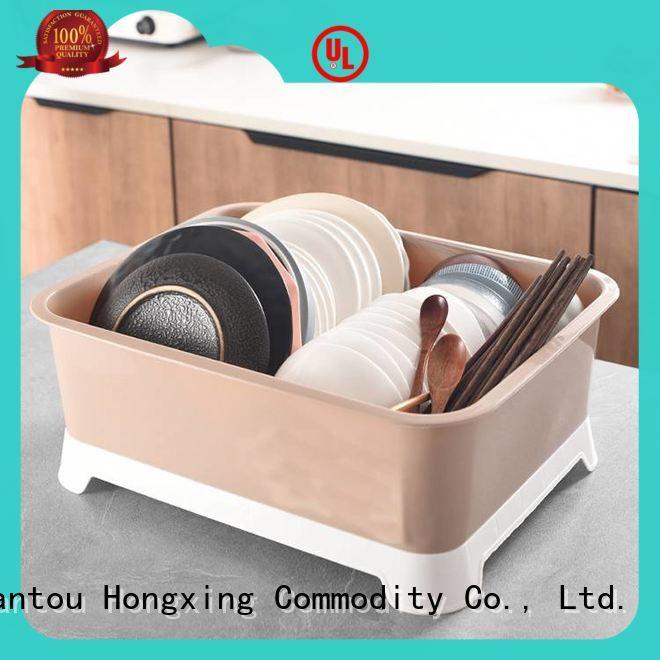 affordable plastic dish rack basket button design to store vegetables