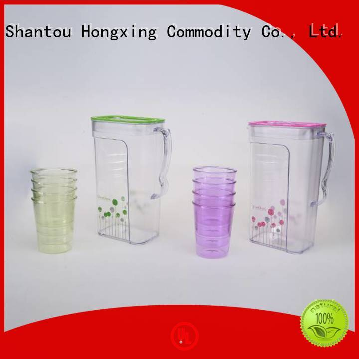 HongXing 2l small plastic jug with lid good design for kitchen