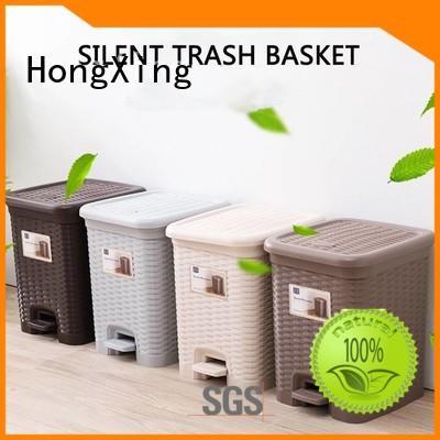 HongXing silent plastic garbage bin