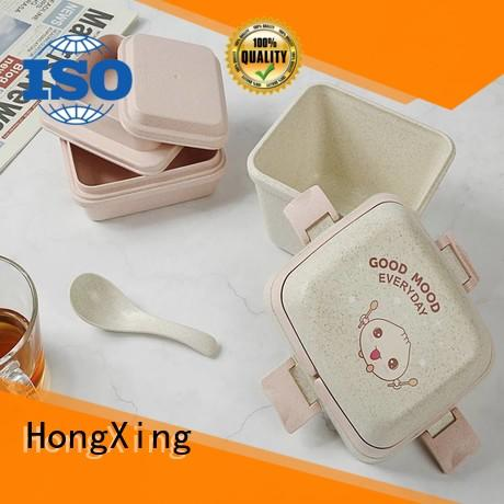 HongXing fashionable lunch box microwave safe stable performance for macaron