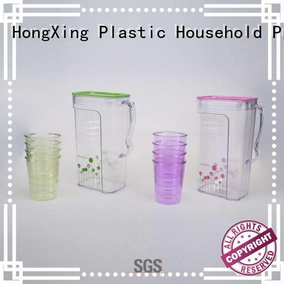 HongXing humanized design small plastic jug with lid great practicality for fruits