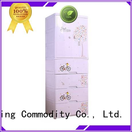 HongXing drawer foldable plastic wardrobe free design for toys