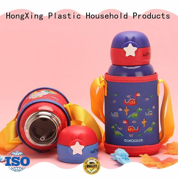 HongXing stainless plastic water bottles button design for vegetables