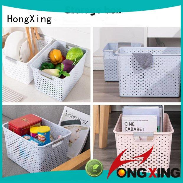 HongXing different colors plastic basket for storage small containers for storage clothes