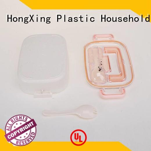 HongXing 2layer plastic lunch containers stable performance for sushi