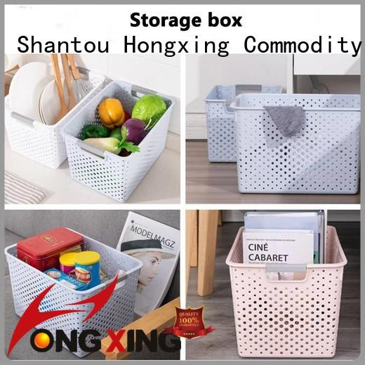 HongXing different capacities plastic storage basket with excellent performance for storage jars