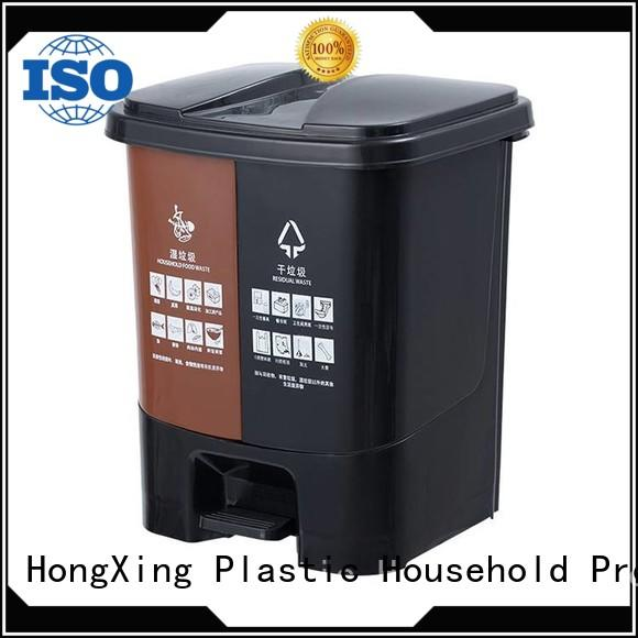 HongXing plastic kitchen trash cans with many colors for home