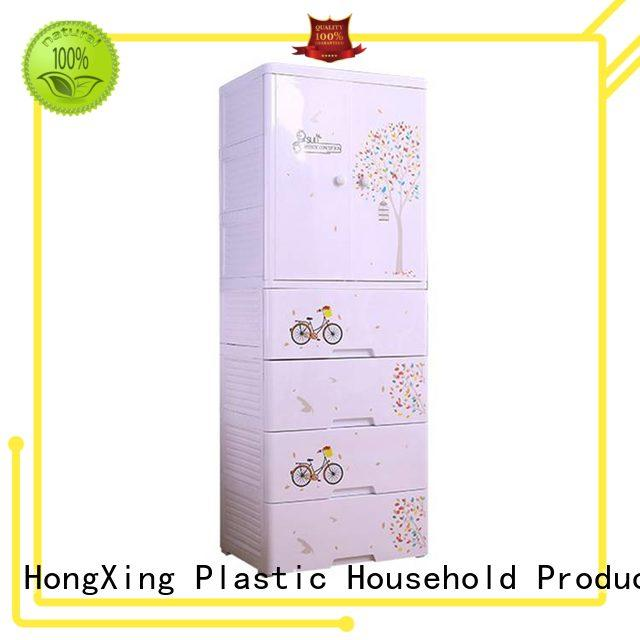 fashionable plastic storage cabinets double China supplier for clothes