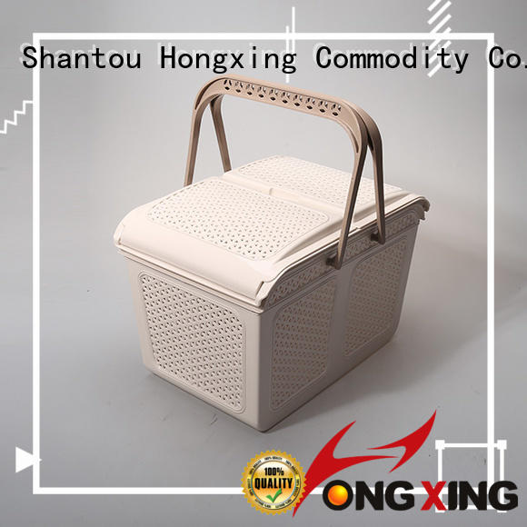 different capacities plastic storage basket stackable with reasonable structure for storage books