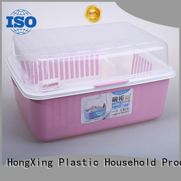 HongXing non-porous plastic dish rack directly sale for vegetables