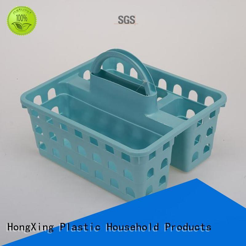different capacities plastic storage basket with handle for storage household items for storage toys HongXing