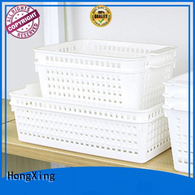 Plastic storage basket organizer,various size multifunction white stackable storage organization basket