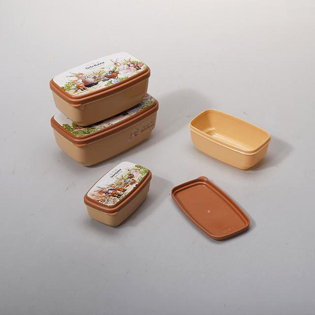HX0024414 Square Shape 4 in 1 Food Storage Containers in 4 Sizes 150ml, 250ml, 400ml, 550ml