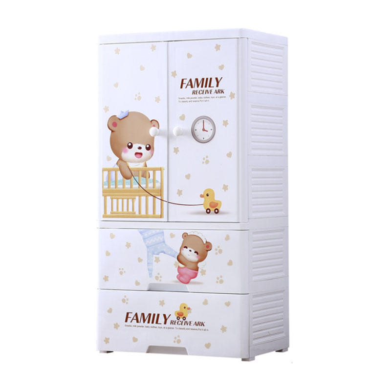 PP material 5-layer baby clothes storage drawer cabinet