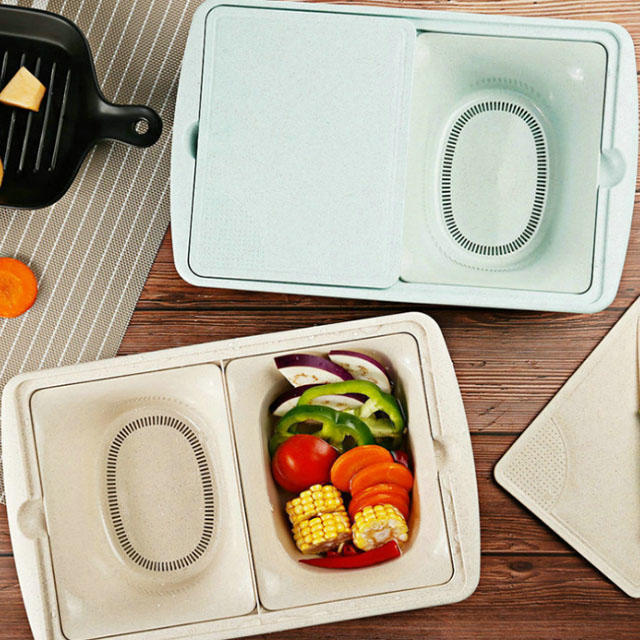 Cutting boards for kitchen plastic with strainer