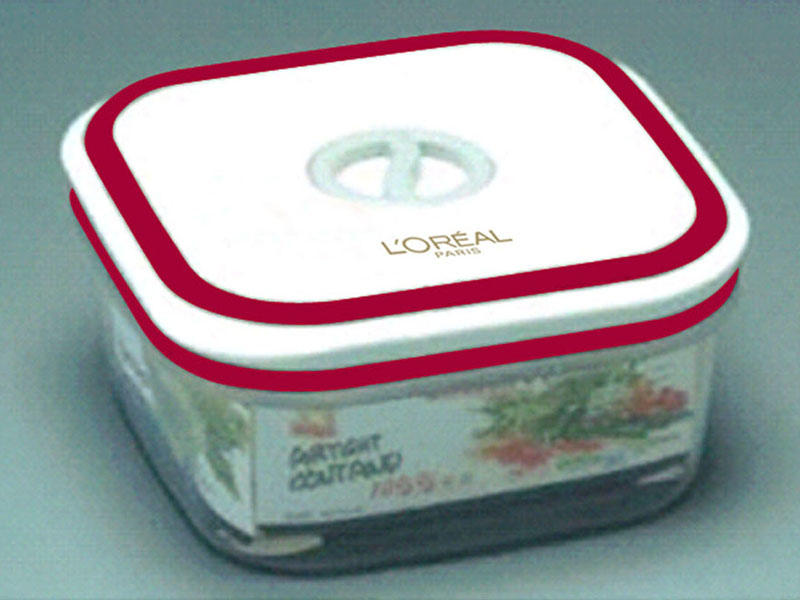 plastic lunch box of Loreal