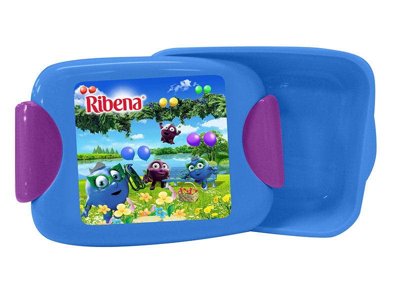 commercial plastic food containers of Ribena