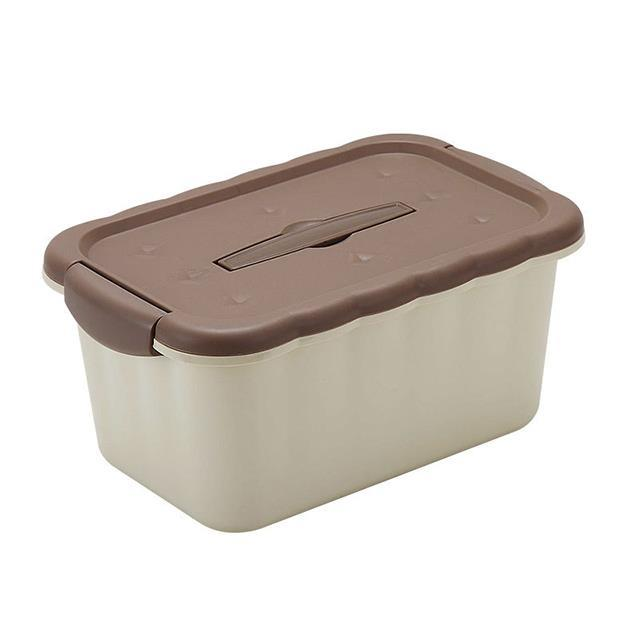 Rectangle shape cookies design plastic storage container with handle&plastic storage boxes