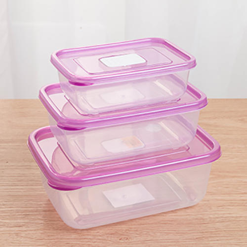 3Pcs/Set plastic Food Container meals Grade Plastic Fresh-Keeping Box