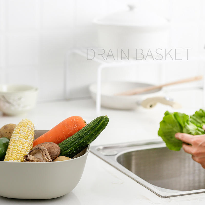 HX0031601 Plastic Kitchen Strainer&plastic colander with Sieve and Tray